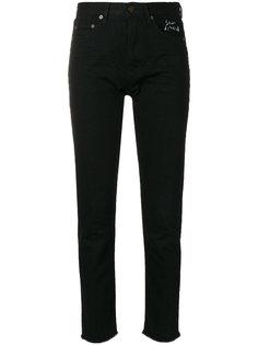 укороченные узкие джинсы с необработанными краями Saint Laurent
