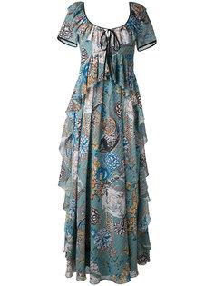 длинное платье с рисунком Shire Temperley London