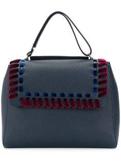 сумка-тоут с бархатной плетеной окантовкой Orciani