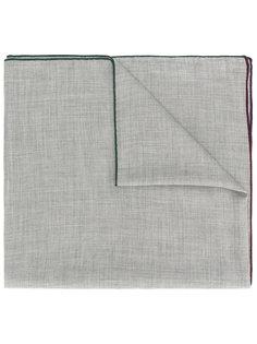 contrast edge scarf Loro Piana