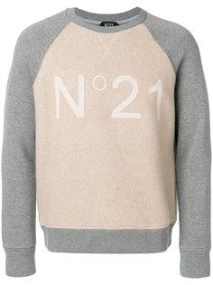 толстовка с принтом-логотипом Nº21