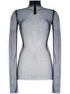сетчатый свитер с отворотной горловиной Nude