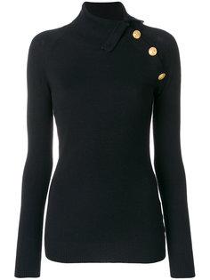 свитер с пуговичной отделкой Pierre Balmain