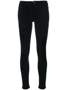 джинсы скинни с потертой отделкой Frame Denim