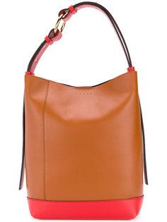 двухцветная сумка-хобо Marni