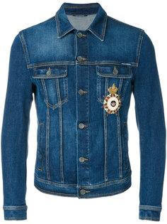 джинсовая куртка с нашивками Dolce & Gabbana