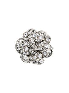 декорированная цветочная брошь Chanel Vintage