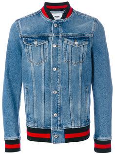 джинсовая куртка с контрастной отделкой MSGM