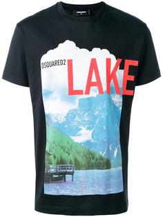 футболка с принтом Lake Dsquared2