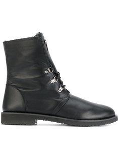 ботинки с оторочкой из кроличьего меха Giuseppe Zanotti Design