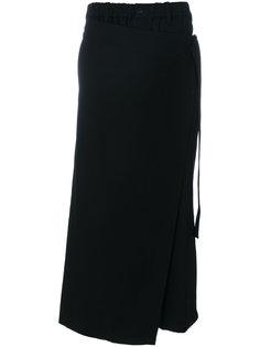 удлиненные брюки с запахом Yohji Yamamoto