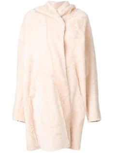 пальто-кейп из овчины  Sylvie Schimmel
