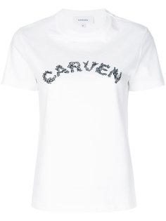 футболка с надписью Carven