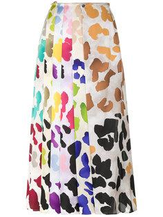 плиссированная юбка с принтом Marco De Vincenzo