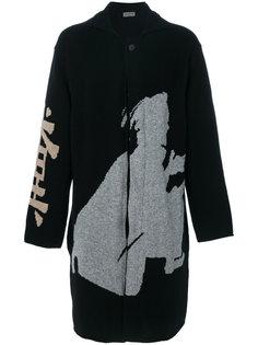 кардиган с вышивкой Yohji Yamamoto