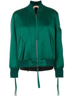 куртка-бомбер с лентами на молниях Nº21
