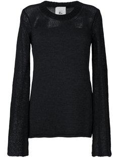 свитер с контрастной вставкой Lost & Found Rooms