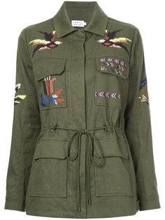А-образная куртка с вышивкой  Tanya Taylor
