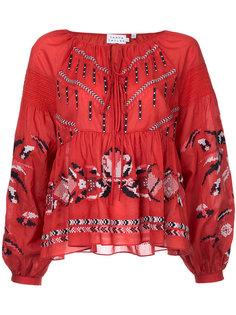 блузка с вышивкой  Tanya Taylor