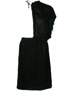 приталенное платье с оборками Comme Des Garçons