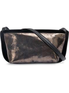 металлическая двухцветная сумка на плечо Ann Demeulemeester