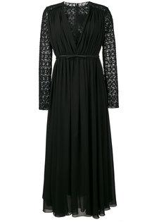 кружевное платье с длинными рукавами  Giambattista Valli