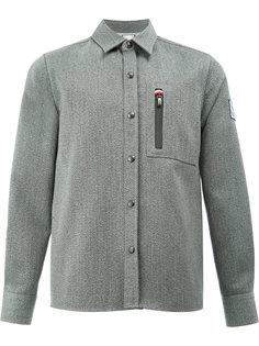 рубашка с нагрудным карманом Moncler Gamme Bleu