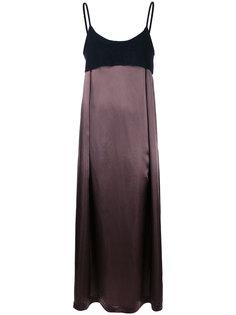 платье макси с контрастным дизайном Comme Des Garçons