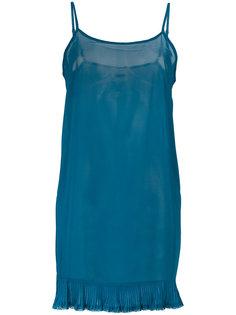 полупрозрачное платье с писсировкой Twin-Set