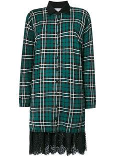 платье-рубашка с кружевной отделкой Twin-Set