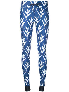 Day Lilies print leggings The Upside