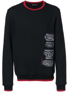 baroque lettered sweatshirt Versace