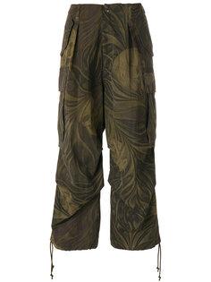 брюки свободного кроя с камуфляжным цветочным принтом Yohji Yamamoto