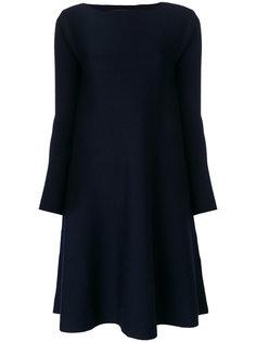 трикотажное платье с высоким горлом Roberto Collina