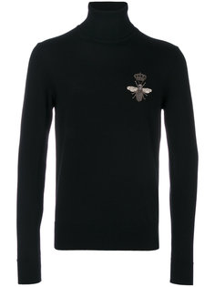 свитер с аппликацией пчелы Dolce & Gabbana