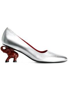 туфли с резным каблуком в форме слона Dorateymur