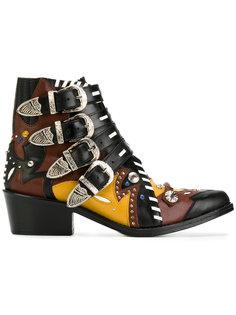 ботинки с ремешками и заклепками Toga Pulla