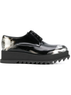 туфли на шнуровке на ребристой подошве Jil Sander