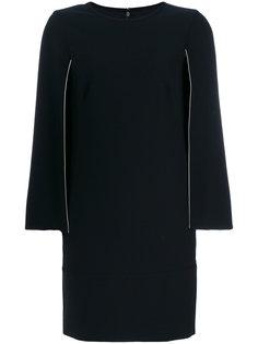 платье-шифт с разрезами на рукавах DKNY