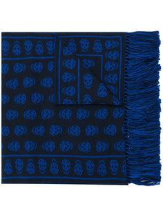 шарф с принтом логотипа Alexander McQueen