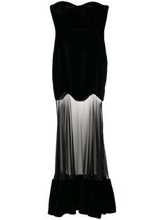 сетчатое платье  Alexander McQueen