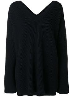 свободный свитер в рубчик с V-образным вырезом  Stella McCartney