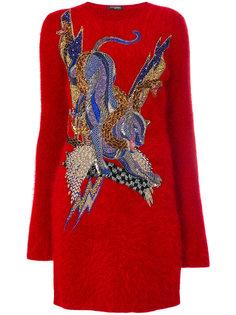 платье-свитер с вышивкой  Balmain