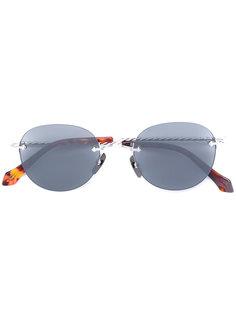 солнцезащитные очки с овальной оправой Brioni
