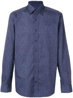 приталенная рубашка с мелким узором Hackett
