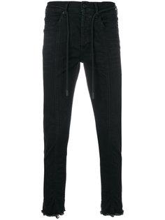 джинсы с необработанными краями Off-White