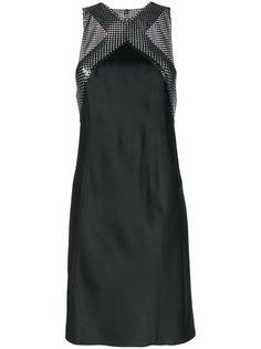 приталенное платье с вырезом-халтер Paco Rabanne