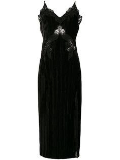 бархатное платье с кружевной отделкой  Jonathan Simkhai
