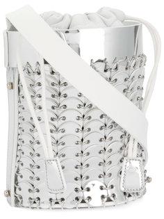 сумка через плечо с отделкой металлик Paco Rabanne