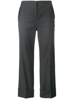 укороченные строгие брюки клеш  Nº21